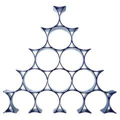 Kartell Infinity Modular Bottle-Holder in Blue by Ron Arad