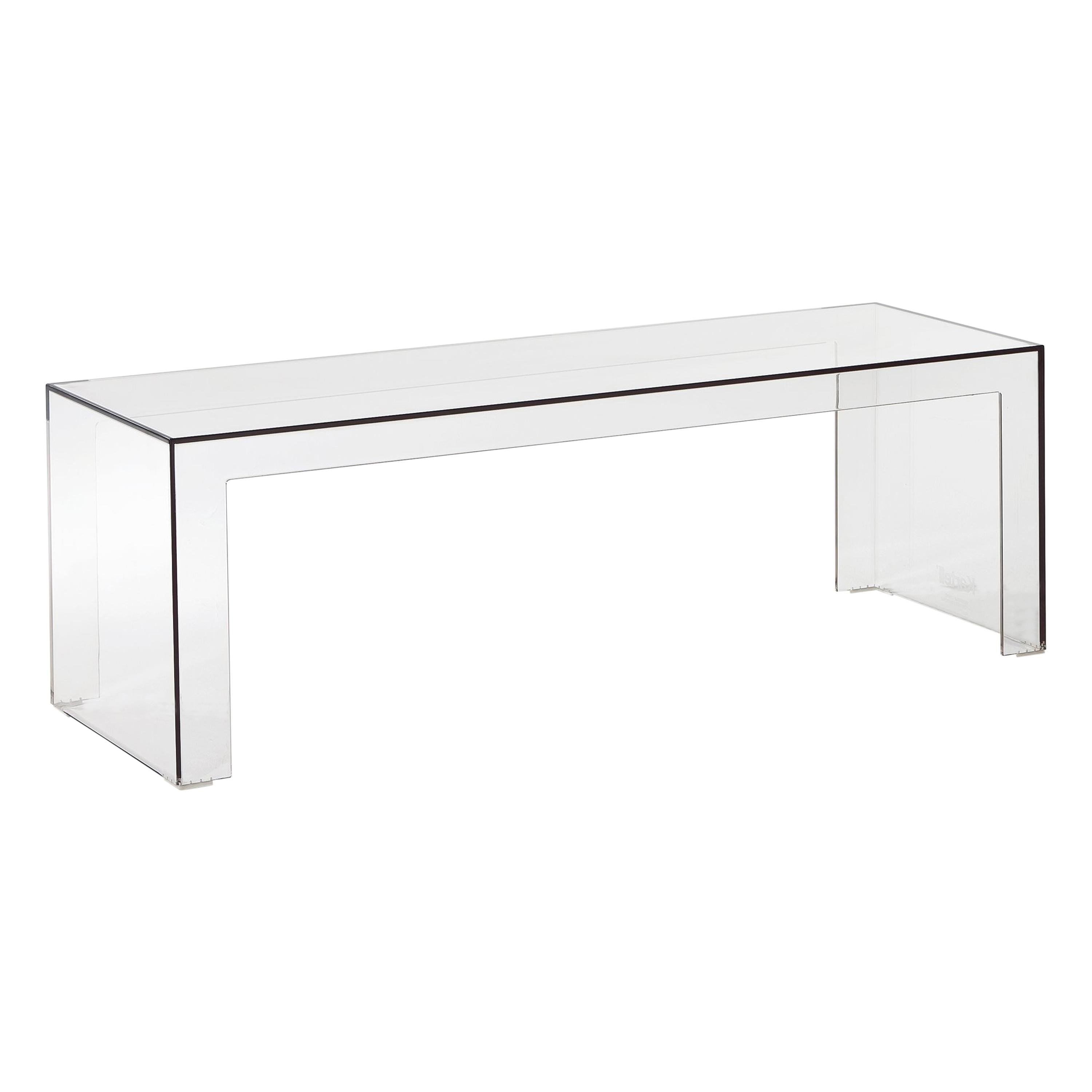 Kartell Invisible Low Rectangular Table in Crystal by Tokujin Yoshioka