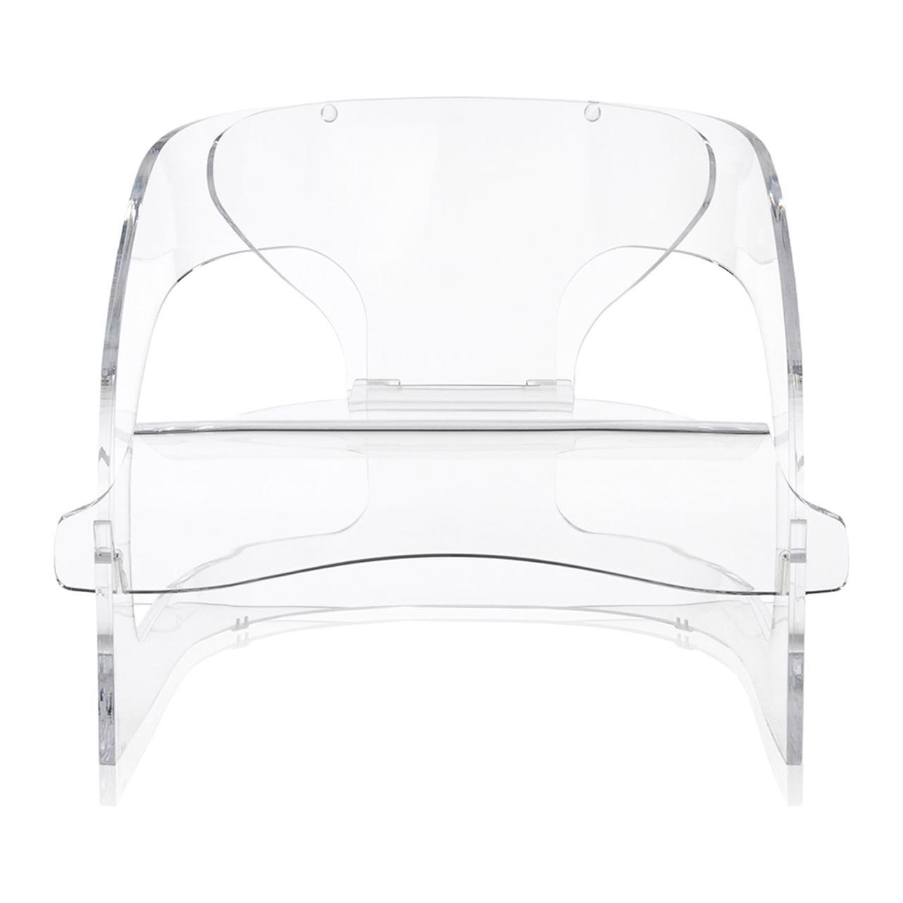 Kartell Joe Colombo Chair in Crystal by Joe Colombo