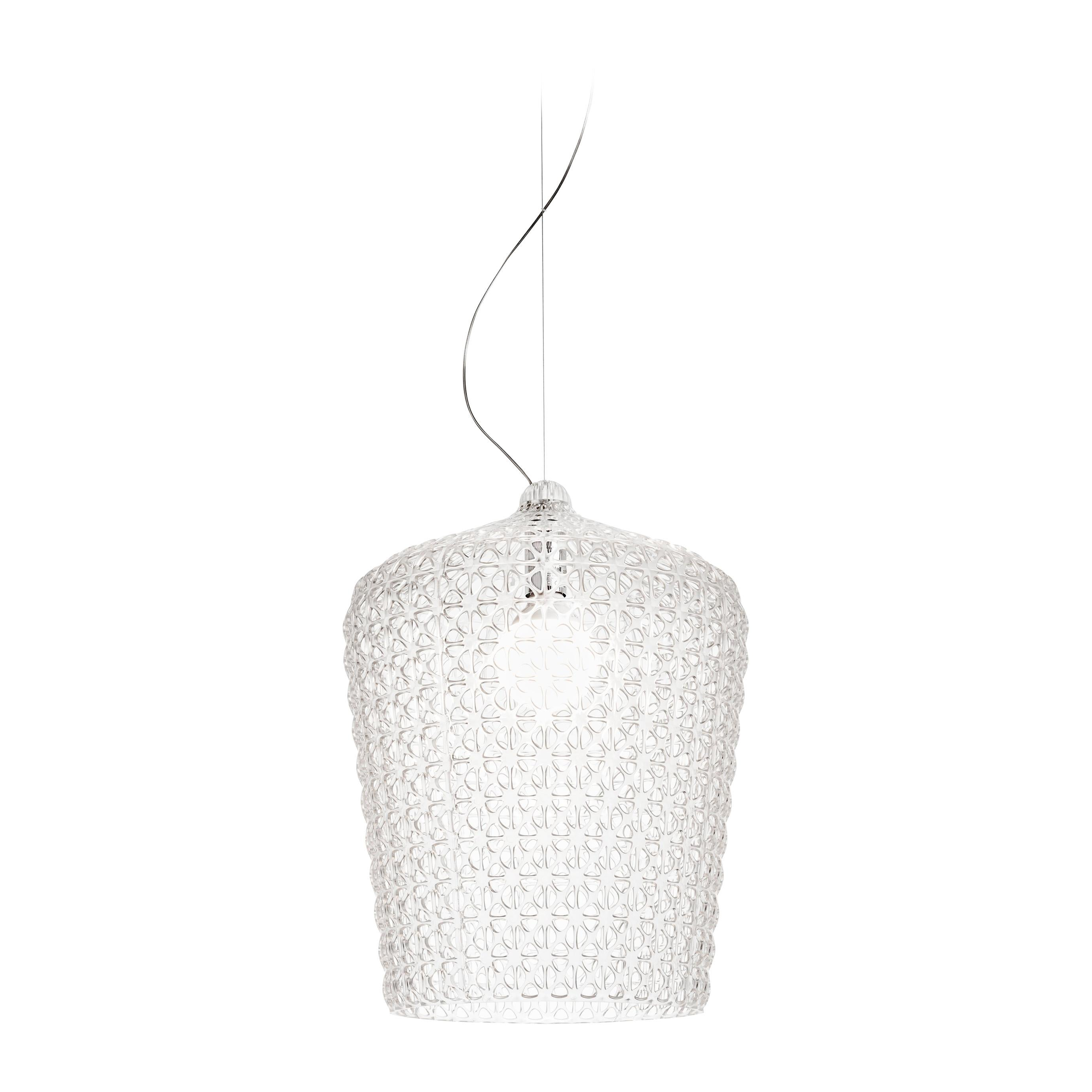 Kartell Kabuki Pendant Light in Crystal by Ferruccio Laviani