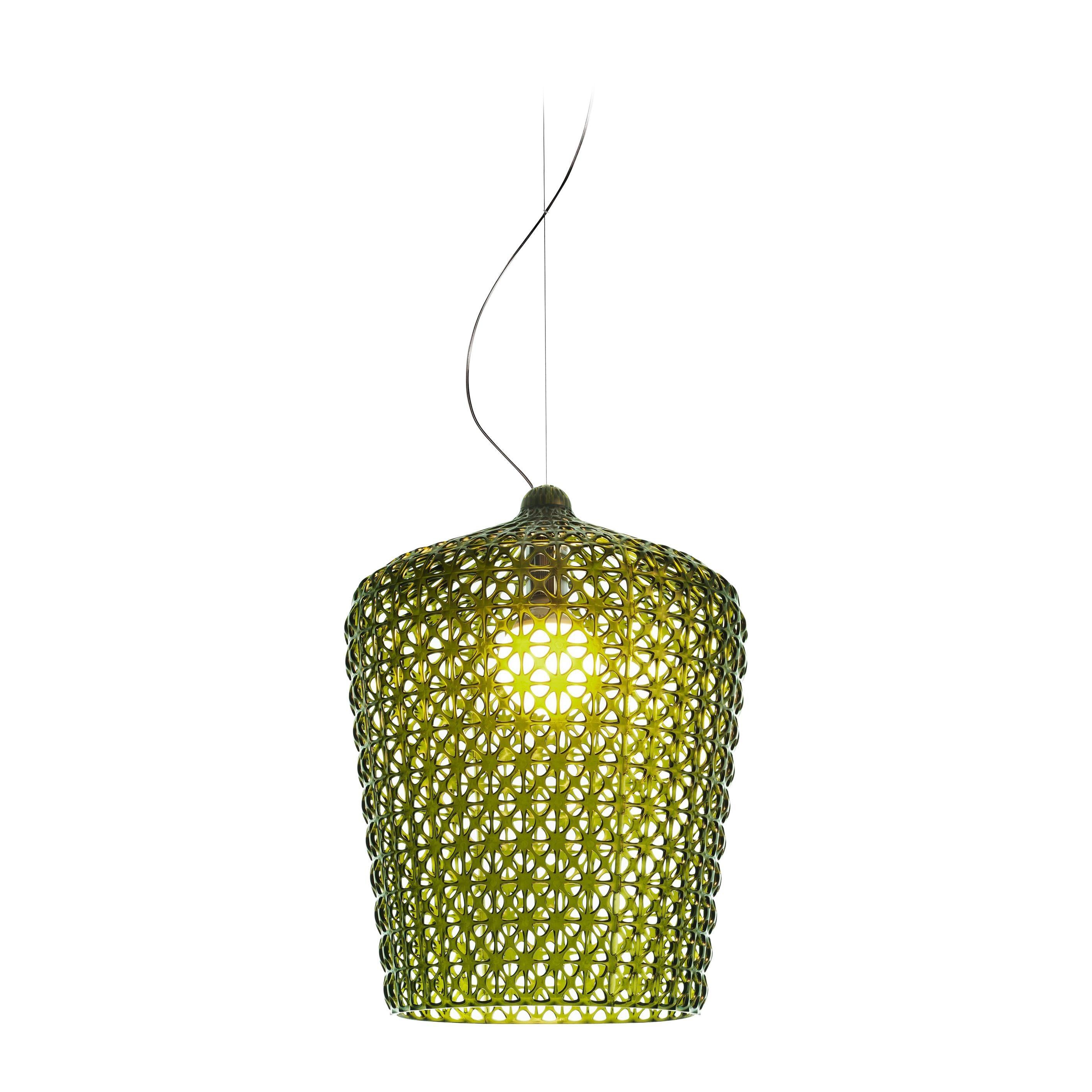 Kartell Kabuki Pendant Light in Green by Ferruccio Laviani