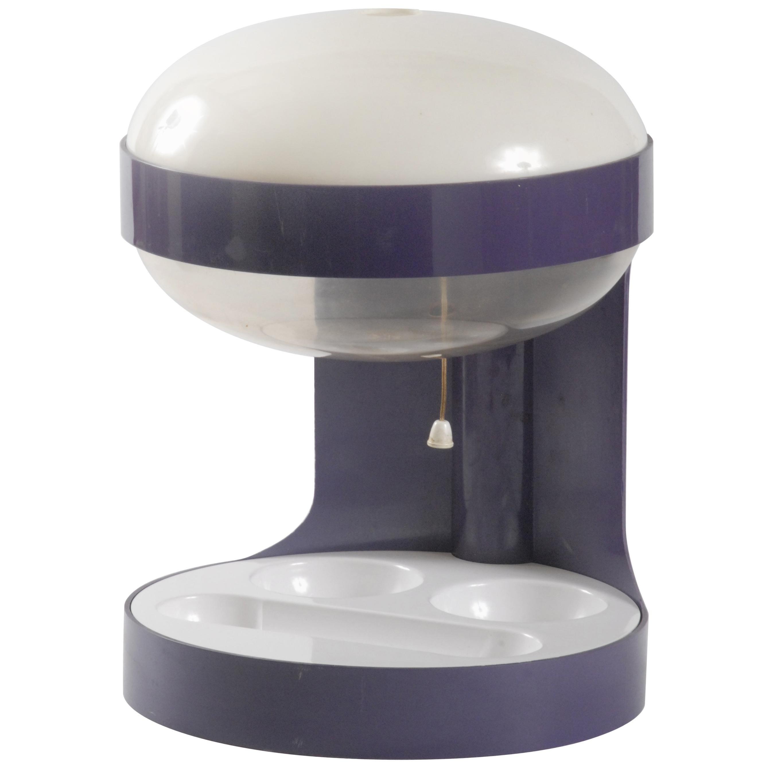 Kartell KD29 Desk Light Joe Colombo circa 1970 Purple