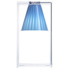 Kartell Light Air Table Lamp in Crystal & Light Blue by Eugeni Quitllet