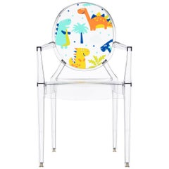 Kartell Lou Lou Ghost Chair in Crystal Dinosaur by Philippe Starck