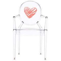 Kartell Lou Lou Ghost Chair in Crystal Heart by Philippe Starck