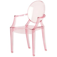 Kartell Lou Lou Ghost Chair in Pink by Philippe Starck
