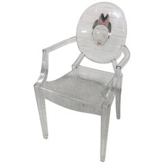 Kartell Louis Ghost Armchair in Crystal by Philippe Starck