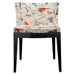 """Kartell Mademoiselle """"A La Mode"""" Moschino Sketches Chair by Philippe Starck"""