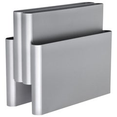 Kartell Magazine Rack in Silver by Giotto Stoppino