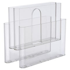 Kartell Magazine Rack in Transparent by Giotto Stoppino