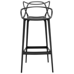 Kartell Masters Bar Stool in Black by Philippe Starck & Eugeni Quitllet