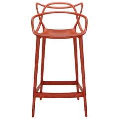 Kartell Masters Bar Stool in Rust Orange by Philippe Starck & Eugeni Quitllet