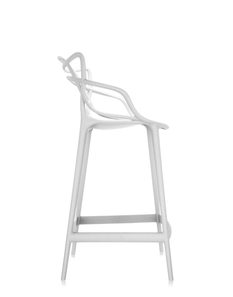 Modern Kartell Masters Bar Stool in White by Philippe Starck & Eugeni Quitllet For Sale
