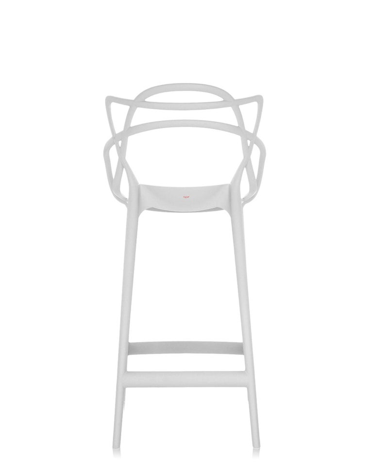 Italian Kartell Masters Bar Stool in White by Philippe Starck & Eugeni Quitllet For Sale