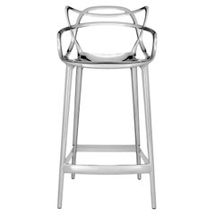 Kartell Masters Counter Stool in Chrome by Philippe Starck & Eugeni Quitllet