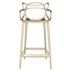Kartell Masters Counter Stool in Gold by Philippe Starck & Eugeni Quitllet