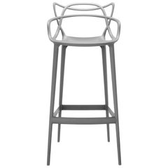Kartell Masters Counter Stool in Grey by Philippe Starck & Eugeni Quitllet