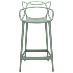 Kartell Masters Counter Stool in Sage Green by Philippe Starck & Eugeni Quitllet