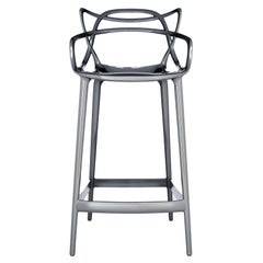 Kartell Masters Counter Stool in Titanium by Philippe Starck & Eugeni Quitllet