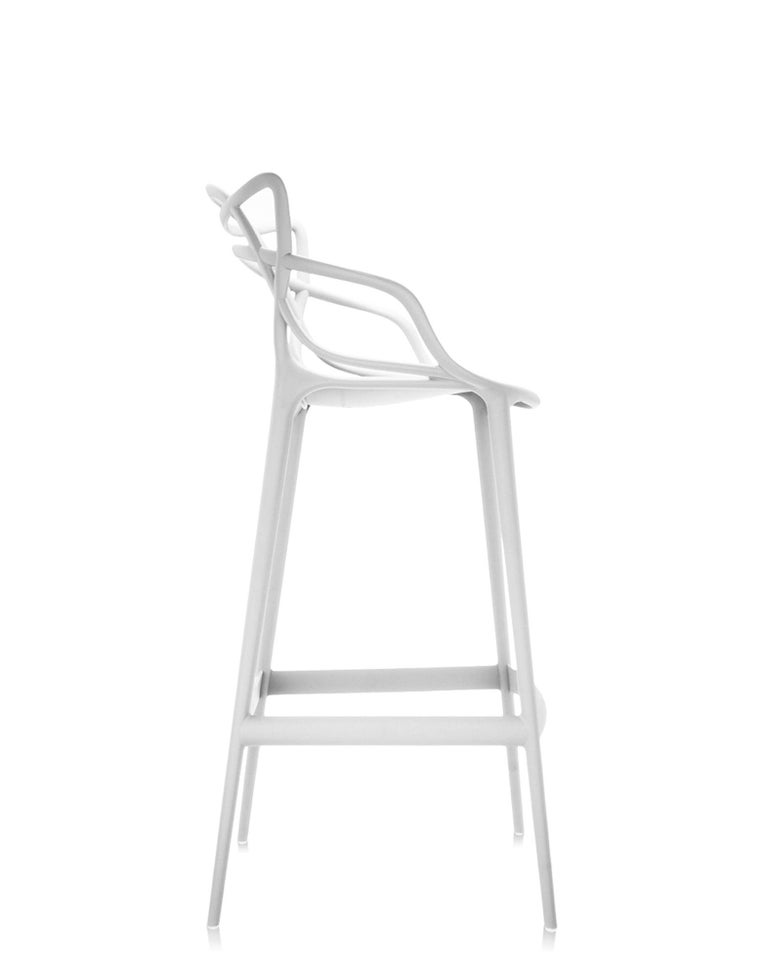 Modern Kartell Masters Counter Stool in White by Philippe Starck & Eugeni Quitllet For Sale