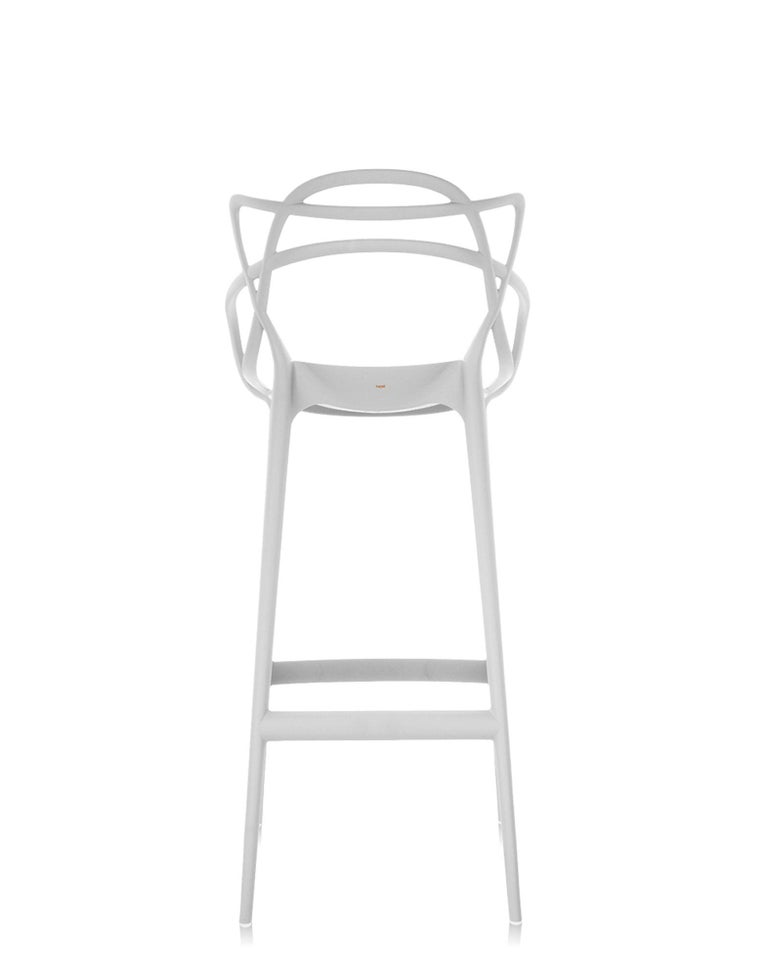 Italian Kartell Masters Counter Stool in White by Philippe Starck & Eugeni Quitllet For Sale
