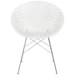 Kartell Smatrik Chair in Crystal with Chrome Legs by Tokujin Yoshioka