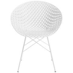 Kartell Smatrik Chair in White with White Legs by Tokujin Yoshioka