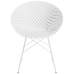 Kartell Smatrik Outdoor Chair in White by Tokujin Yoshioka