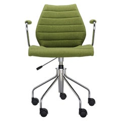 Kartell Maui Soft Trevira Armchair in Acid Green by Vico Magistretti