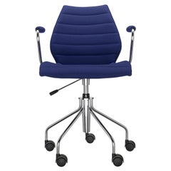 Kartell Maui Soft Trevira Armchair in Blue by Vico Magistretti