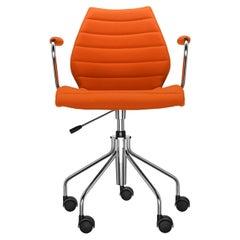 Kartell Maui Soft Trevira Armchair in Orange by Vico Magistretti
