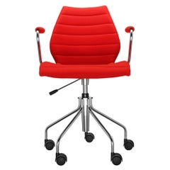 Kartell Maui Soft Trevira ArmChair in Red by Vico Magistretti