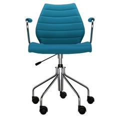 Kartell Maui Soft Trevira ArmChair in Teal by Vico Magistretti