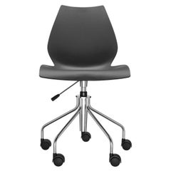 Kartell Maui Swivel Chair Adjustable in Anthracite by Vico Magistretti
