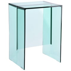 Kartell Max-Beam Side Table in Aquamarine by Ludovica and Roberto Palomba