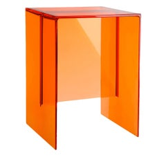 Kartell Max-Beam Side Table in Rust Orange by Ludovica and Roberto Palomba