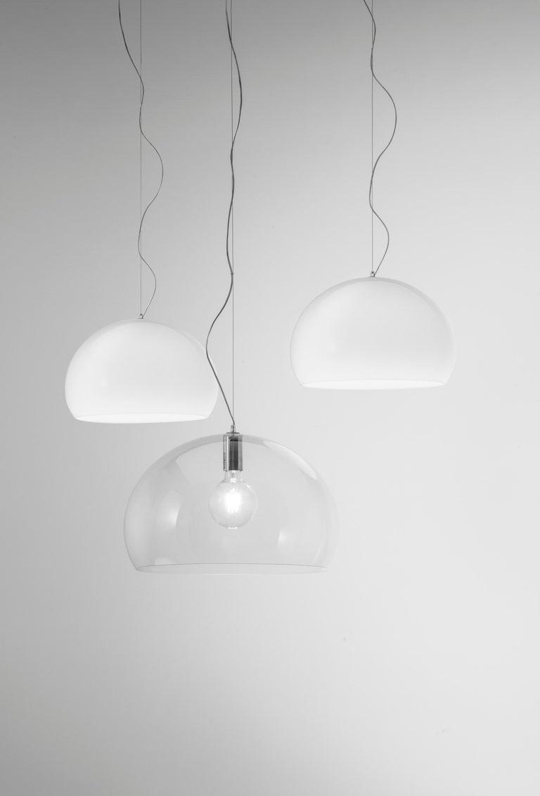 Kartell Medium FL/Y Pendant Light in Chrome by Ferruccio Laviani For Sale 4
