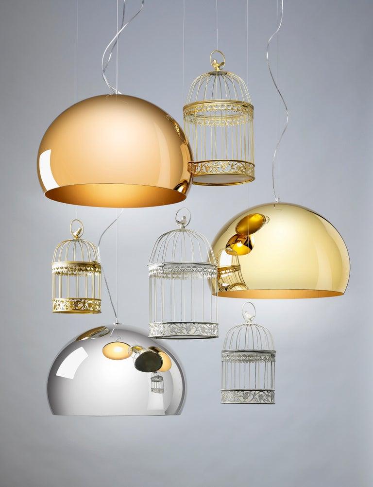 Modern Kartell Medium FL/Y Pendant Light in Chrome by Ferruccio Laviani For Sale