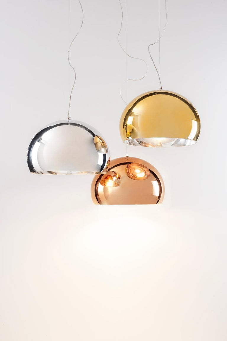 Kartell Medium FL/Y Pendant Light in Chrome by Ferruccio Laviani In New Condition For Sale In New York, NY