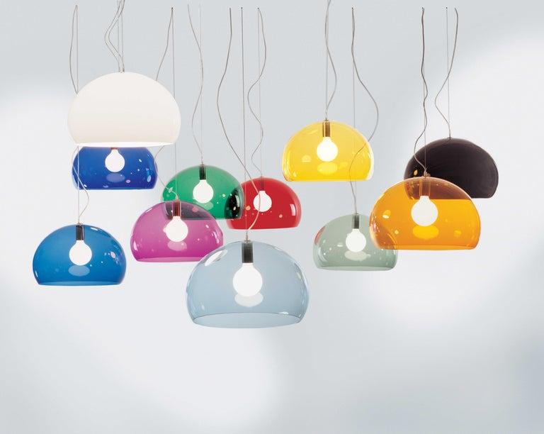 Contemporary Kartell Medium FL/Y Pendant Light in Chrome by Ferruccio Laviani For Sale