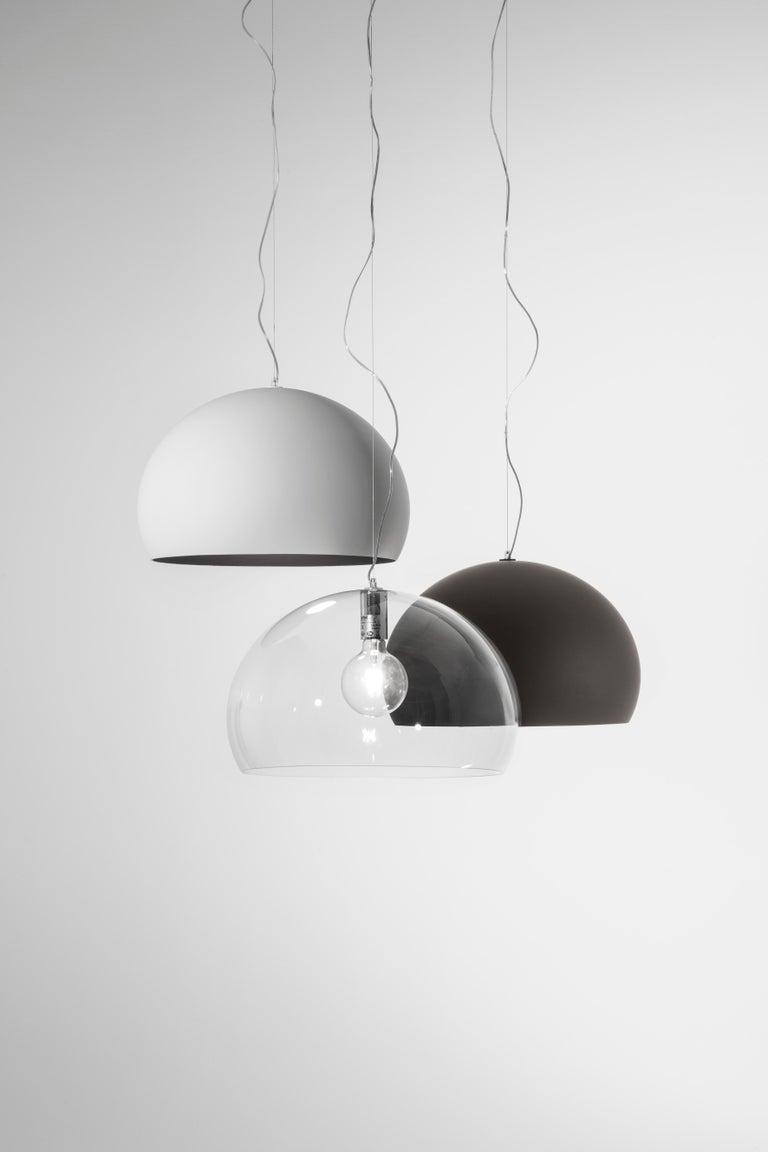 Kartell Medium FL/Y Pendant Light in Chrome by Ferruccio Laviani For Sale 3