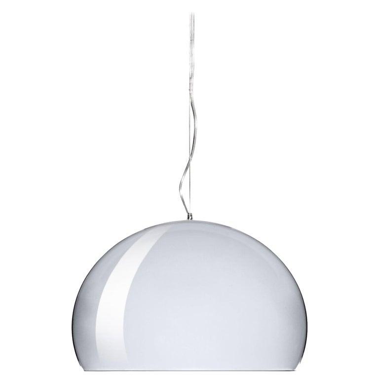 Kartell Medium FL/Y Pendant Light in Chrome by Ferruccio Laviani For Sale