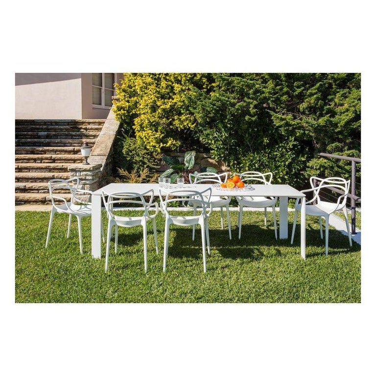 Modern Kartell Outdoor Four Table in White by Ferruccio Laviani For Sale