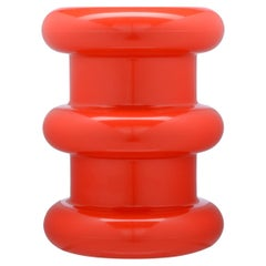 Kartell Pilastro Stool in Red by Ettore Sottsass
