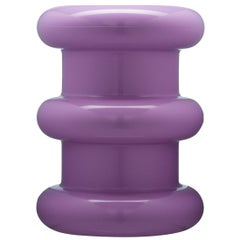 Kartell Pilastro Stool in Violet by Ettore Sottsass