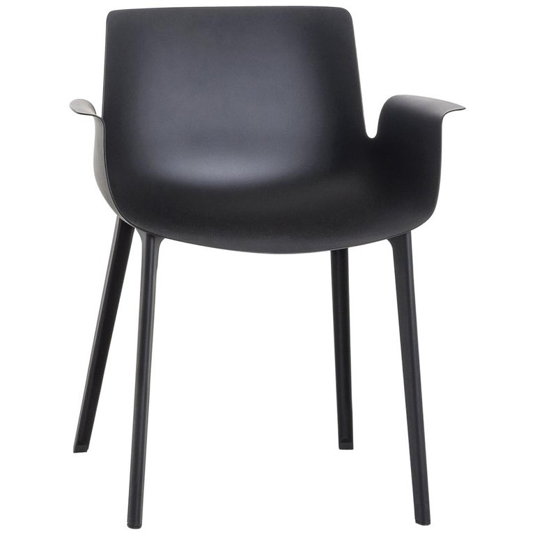 Piuma chair in black by Piero Lissoni for Kartell, new, offered by Kartell