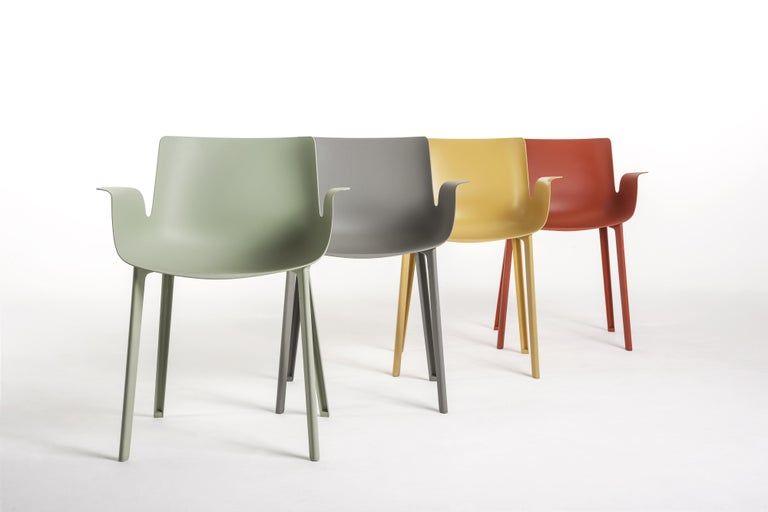 """2016 saw the completion of the """"Piuma"""" project by Piero Lissoni. The chair is one of the most revolutionary and enterprising products in Kartell's repertoire of technology and materials. By applying its injection molding techniques in a"""