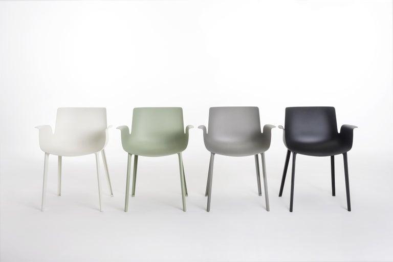 Modern Kartell Piuma Chair in Gray by Piero Lissoni For Sale
