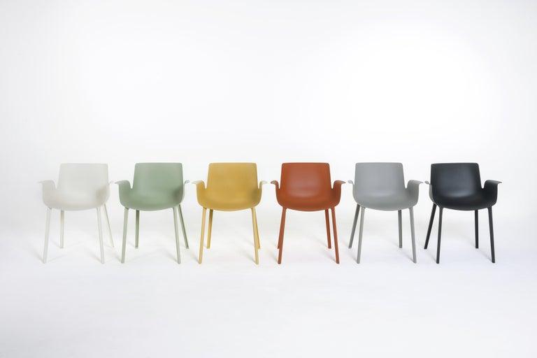 Italian Kartell Piuma Chair in Gray by Piero Lissoni For Sale