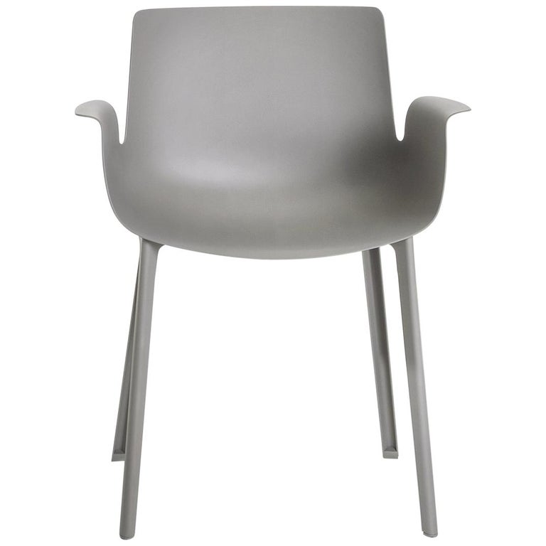 Kartell Piuma Chair in Gray by Piero Lissoni For Sale